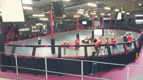 The L.A. Derby Dolls banked track hosted